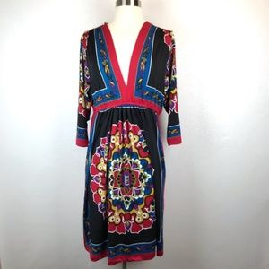 Bailey Blue Black Boho Dress Size XL